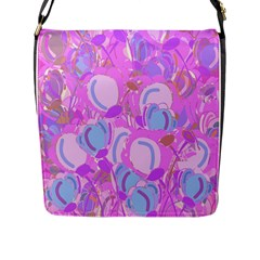 Pink Garden Flap Messenger Bag (l)  by Valentinaart
