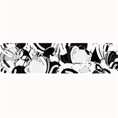 Black And White Garden Large Bar Mats by Valentinaart