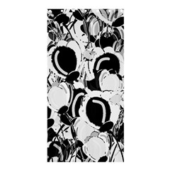 Black And White Garden Shower Curtain 36  X 72  (stall)