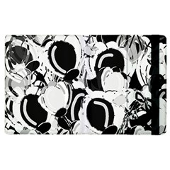 Black And White Garden Apple Ipad 2 Flip Case