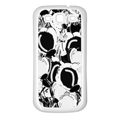 Black And White Garden Samsung Galaxy S3 Back Case (white) by Valentinaart