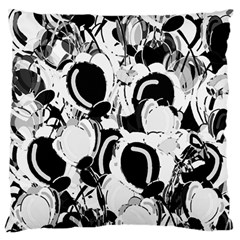 Black And White Garden Standard Flano Cushion Case (one Side) by Valentinaart
