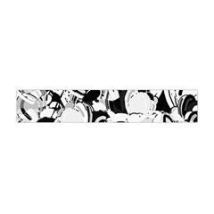 Black And White Garden Flano Scarf (mini) by Valentinaart