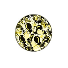 Yellow Abstract Garden Hat Clip Ball Marker (4 Pack) by Valentinaart