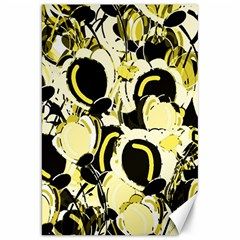 Yellow Abstract Garden Canvas 20  X 30