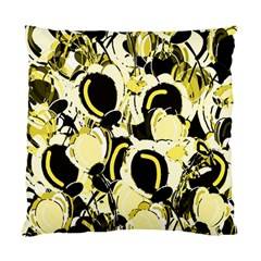 Yellow Abstract Garden Standard Cushion Case (one Side) by Valentinaart