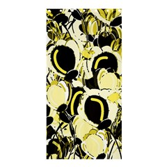 Yellow Abstract Garden Shower Curtain 36  X 72  (stall)  by Valentinaart