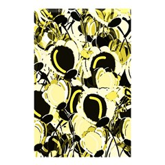 Yellow Abstract Garden Shower Curtain 48  X 72  (small)  by Valentinaart