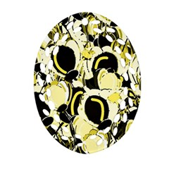 Yellow Abstract Garden Ornament (oval Filigree)  by Valentinaart