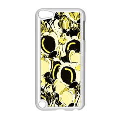 Yellow Abstract Garden Apple Ipod Touch 5 Case (white) by Valentinaart