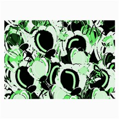 Green Abstract Garden Large Glasses Cloth (2 Side) by Valentinaart
