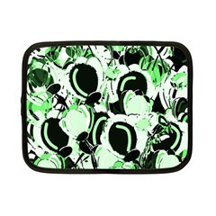 Green Abstract Garden Netbook Case (small)  by Valentinaart