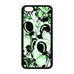 Green Abstract Garden Apple Iphone 5c Seamless Case (black)