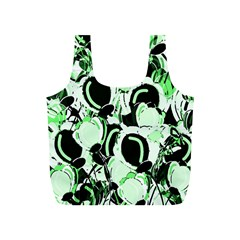 Green Abstract Garden Full Print Recycle Bags (s)  by Valentinaart
