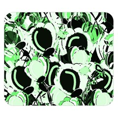 Green Abstract Garden Double Sided Flano Blanket (small)