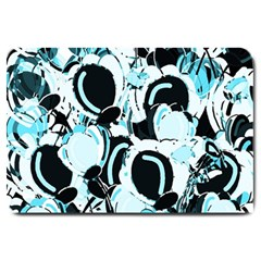 Blue Abstract  Garden Large Doormat  by Valentinaart