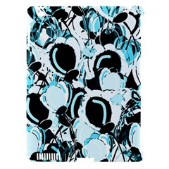 Blue Abstract  Garden Apple Ipad 3/4 Hardshell Case (compatible With Smart Cover) by Valentinaart