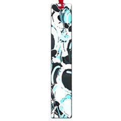 Blue Abstract  Garden Large Book Marks by Valentinaart