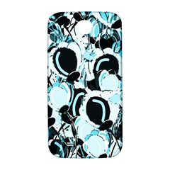 Blue Abstract  Garden Samsung Galaxy S4 I9500/i9505  Hardshell Back Case by Valentinaart
