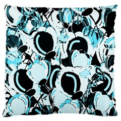 Blue Abstract  Garden Standard Flano Cushion Case (two Sides) by Valentinaart