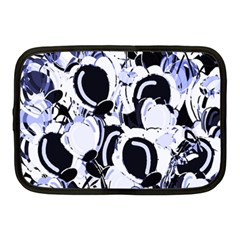 Blue Abstract Floral Design Netbook Case (medium)