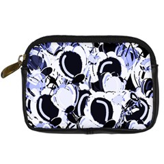 Blue Abstract Floral Design Digital Camera Cases by Valentinaart