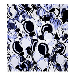 Blue Abstract Floral Design Shower Curtain 66  X 72  (large)  by Valentinaart