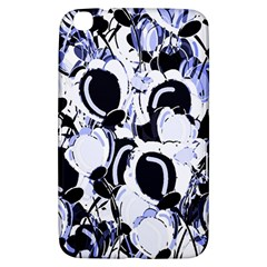 Blue Abstract Floral Design Samsung Galaxy Tab 3 (8 ) T3100 Hardshell Case  by Valentinaart