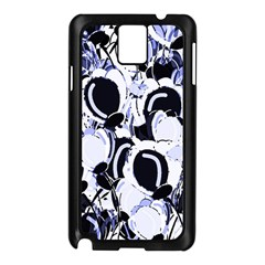 Blue Abstract Floral Design Samsung Galaxy Note 3 N9005 Case (black)