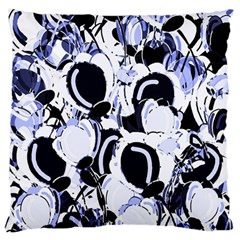 Blue Abstract Floral Design Standard Flano Cushion Case (two Sides) by Valentinaart