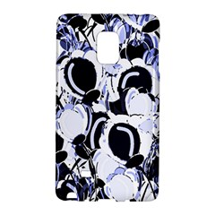 Blue Abstract Floral Design Galaxy Note Edge by Valentinaart
