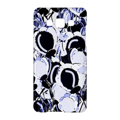 Blue Abstract Floral Design Samsung Galaxy A5 Hardshell Case  by Valentinaart