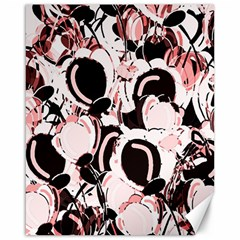 Pink Abstract Garden Canvas 16  X 20