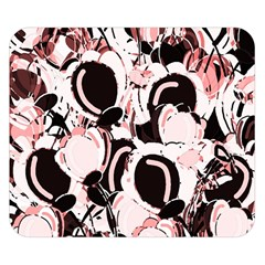 Pink Abstract Garden Double Sided Flano Blanket (small)