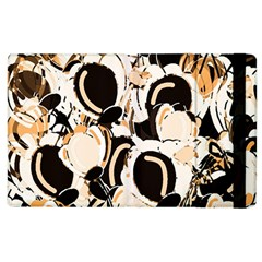 Orange Abstract Garden Apple Ipad 2 Flip Case by Valentinaart