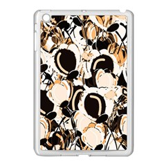 Orange Abstract Garden Apple Ipad Mini Case (white) by Valentinaart