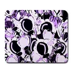 Purple Abstract Garden Large Mousepads by Valentinaart