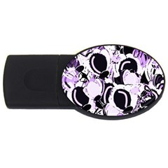 Purple Abstract Garden Usb Flash Drive Oval (2 Gb)