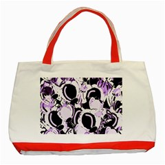 Purple Abstract Garden Classic Tote Bag (red) by Valentinaart