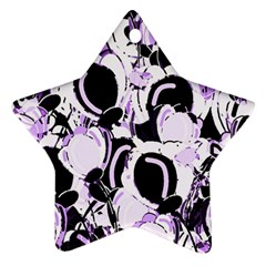 Purple Abstract Garden Star Ornament (two Sides)  by Valentinaart