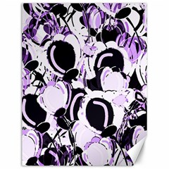 Purple Abstract Garden Canvas 12  X 16   by Valentinaart