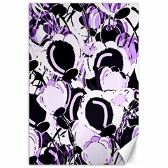Purple Abstract Garden Canvas 20  X 30   by Valentinaart