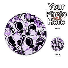 Purple Abstract Garden Multi Purpose Cards (round)  by Valentinaart
