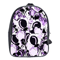 Purple Abstract Garden School Bags(large)
