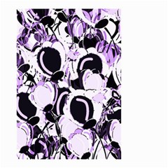 Purple Abstract Garden Small Garden Flag (two Sides) by Valentinaart