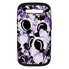 Purple Abstract Garden Samsung Galaxy S Iii Hardshell Case (pc+silicone) by Valentinaart