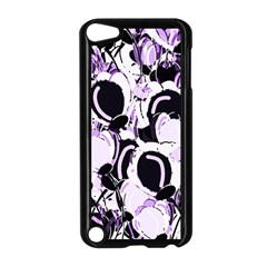 Purple Abstract Garden Apple Ipod Touch 5 Case (black) by Valentinaart