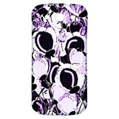Purple Abstract Garden Samsung Galaxy S3 S Iii Classic Hardshell Back Case by Valentinaart