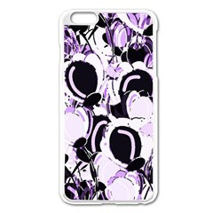 Purple Abstract Garden Apple Iphone 6 Plus/6s Plus Enamel White Case by Valentinaart