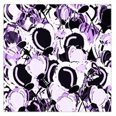 Purple Abstract Garden Large Satin Scarf (square) by Valentinaart